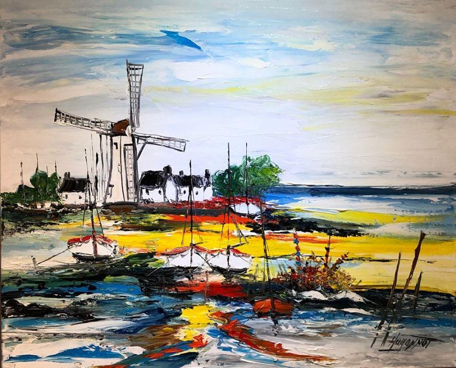 2_Moulin a vent Patrick Hugonnot Artiste Peintre Le Croisic